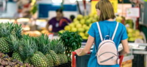 Student shopping for groceries
