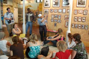 Students learn about local history on a visit to one of Cape Town's museums