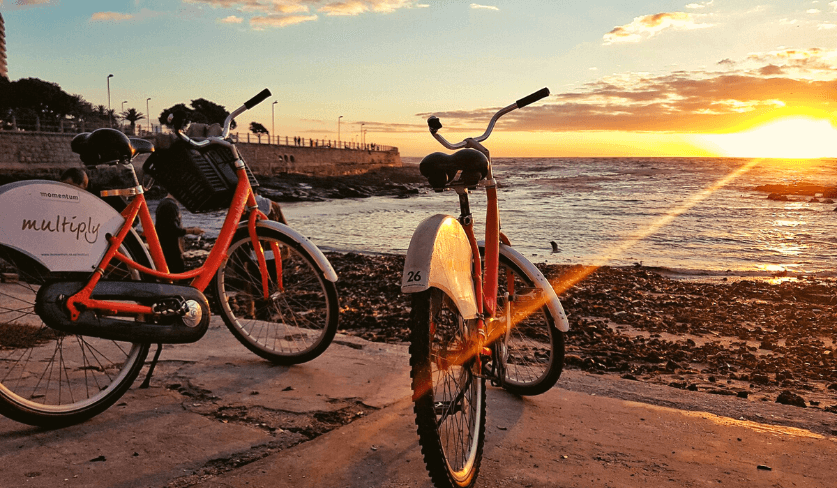 Bicycles on Sea Point Promenade