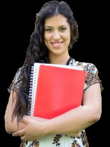 A smiling IELTS student
